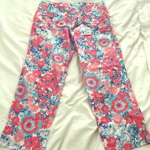 Lilly Pulitzer cotton crop pants size 8.